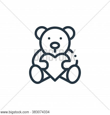 teddy bear icon isolated on white background from charity collection. teddy bear icon trendy and mod