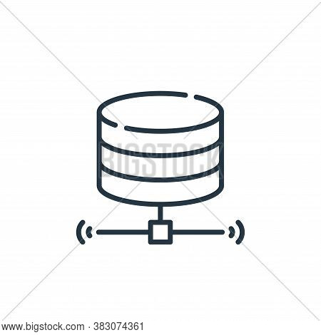 server icon isolated on white background from smart city collection. server icon trendy and modern s
