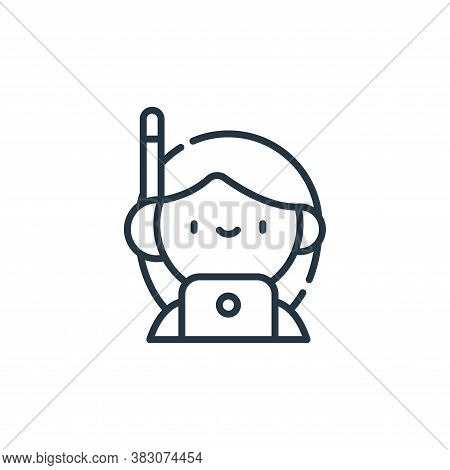 customer service agent icon isolated on white background from cyber security collection. customer se