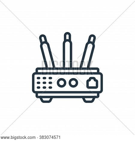 router icon isolated on white background from internet of things collection. router icon trendy and