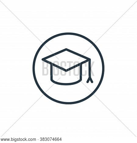 graduation hat icon isolated on white background from online learning collection. graduation hat ico