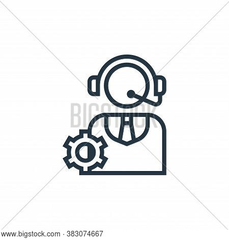 customer service icon isolated on white background from business marketing collection. customer serv