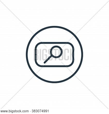search icon isolated on white background from online learning collection. search icon trendy and mod