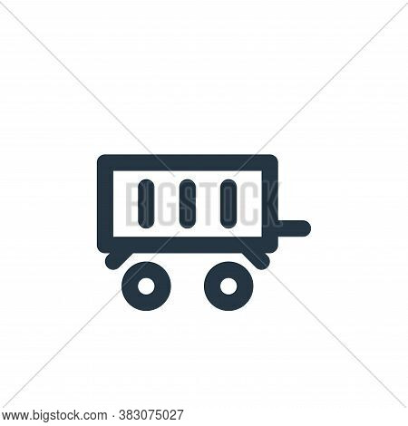 car trailer icon isolated on white background from transportation collection. car trailer icon trend