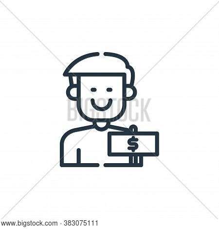 cashier icon isolated on white background from cyber monday collection. cashier icon trendy and mode