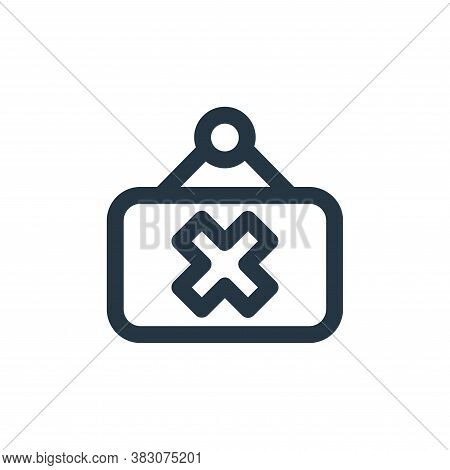 closed icon isolated on white background from restaurant collection. closed icon trendy and modern c