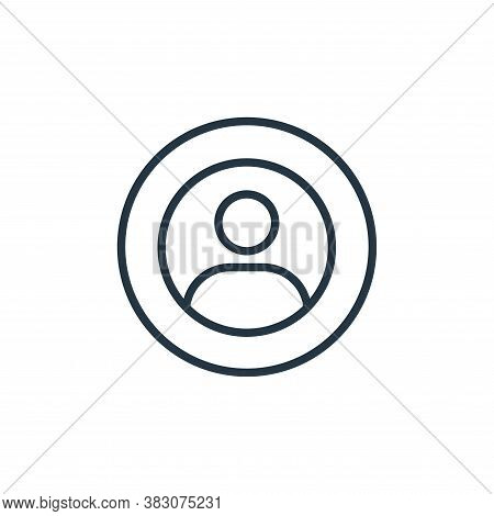 user icon isolated on white background from online learning collection. user icon trendy and modern