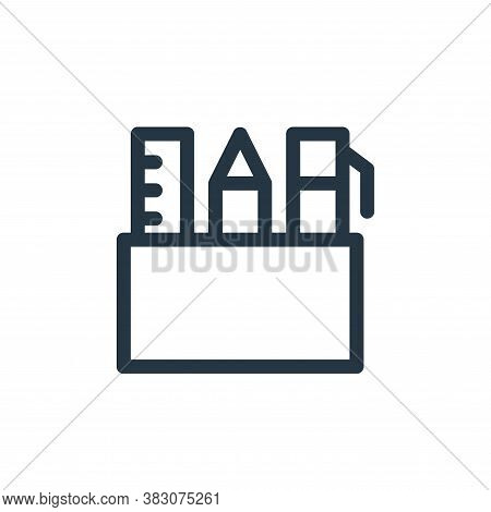 stationary icon isolated on white background from business and office collection. stationary icon tr