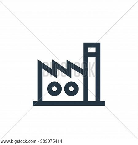 factory icon isolated on white background from property collection. factory icon trendy and modern f