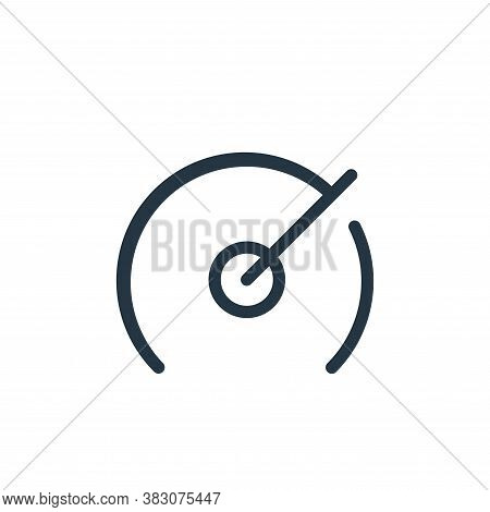 speedometer icon isolated on white background from web collection. speedometer icon trendy and moder