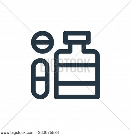 medicine icon isolated on white background from online shop categories collection. medicine icon tre
