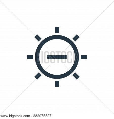 brightness icon isolated on white background from interaction collection. brightness icon trendy and