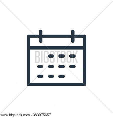 calendar icon isolated on white background from miscellaneous collection. calendar icon trendy and m