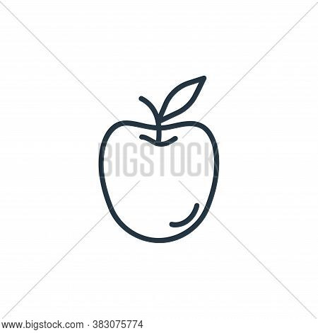 apple icon isolated on white background from spring collection. apple icon trendy and modern apple s