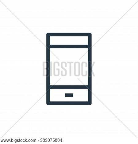 smartphone icon isolated on white background from ui collection. smartphone icon trendy and modern s