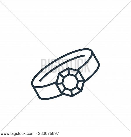 bracelet icon isolated on white background from jewelry collection. bracelet icon trendy and modern