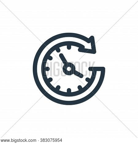 time icon isolated on white background from business administration collection. time icon trendy and