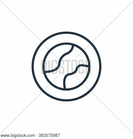 geography icon isolated on white background from online learning collection. geography icon trendy a
