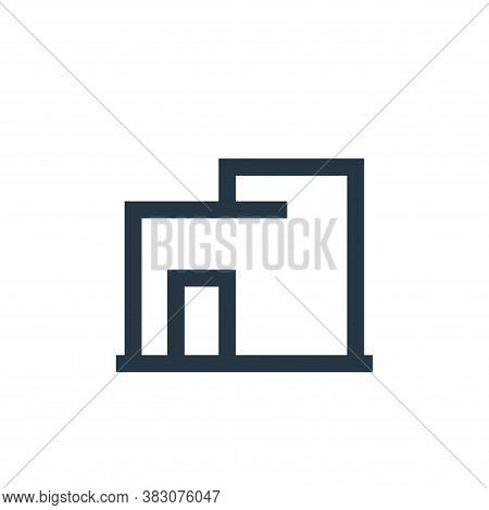 warehouse icon isolated on white background from property collection. warehouse icon trendy and mode