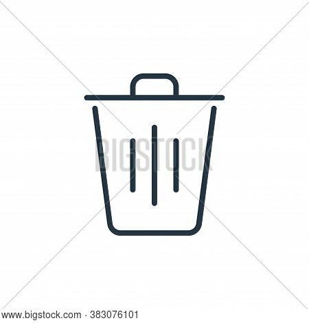 trash icon isolated on white background from ecology line collection. trash icon trendy and modern t