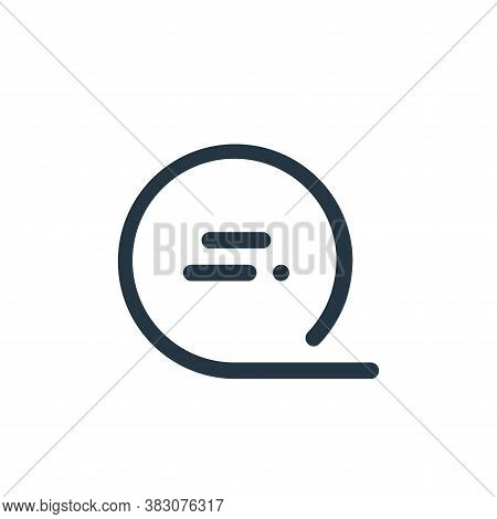 speech bubble icon isolated on white background from user interface collection. speech bubble icon t