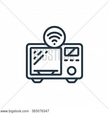 microwave icon isolated on white background from internet of things collection. microwave icon trend