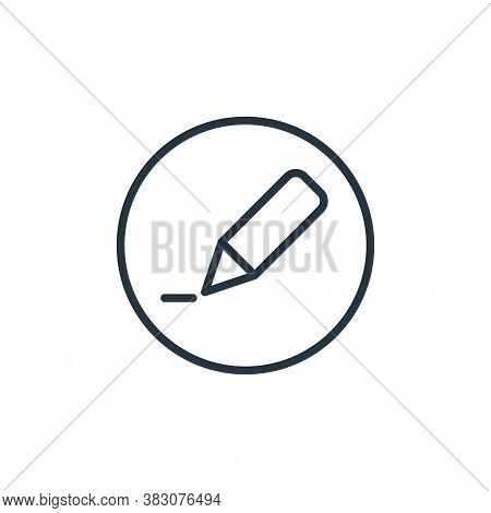 edit icon isolated on white background from online learning collection. edit icon trendy and modern