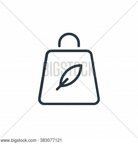 bag icon isolated on white background from ecology line collection. bag icon trendy and modern bag s
