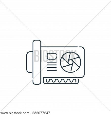 graphic card icon isolated on white background from hardware and technology collection. graphic card