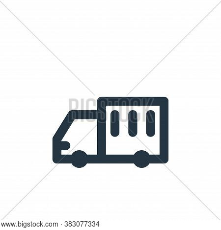 cargo truck icon isolated on white background from transportation collection. cargo truck icon trend