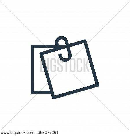 note icon isolated on white background from business and office collection. note icon trendy and mod