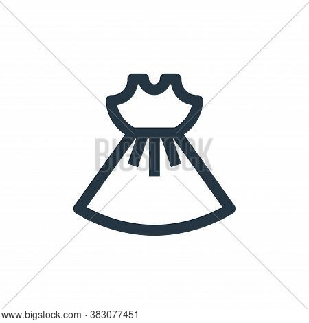 dress icon isolated on white background from online shop categories collection. dress icon trendy an