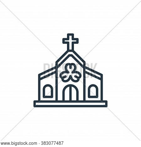 church icon isolated on white background from st patricks day collection. church icon trendy and mod
