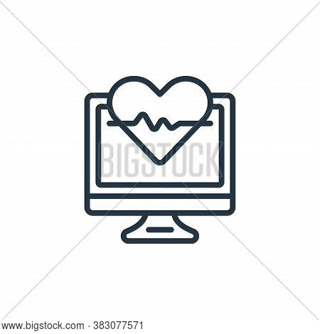 cardiogram icon isolated on white background from internet of things collection. cardiogram icon tre