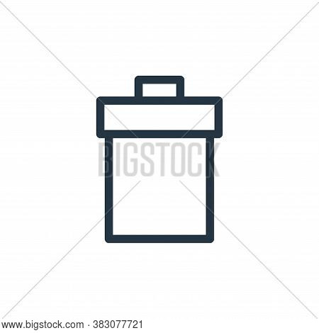 trash can icon isolated on white background from ui collection. trash can icon trendy and modern tra