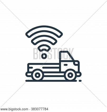 pickup truck icon isolated on white background from internet of things collection. pickup truck icon