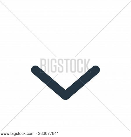 down icon isolated on white background from arrow collection. down icon trendy and modern down symbo