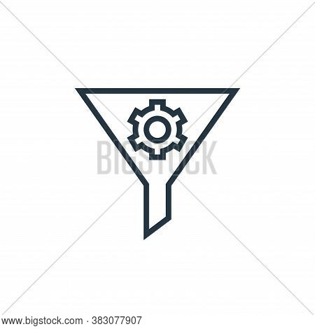 filtering icon isolated on white background from business marketing collection. filtering icon trend