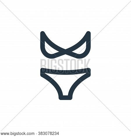 bikini icon isolated on white background from online shop categories collection. bikini icon trendy