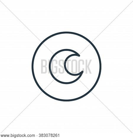 moon icon isolated on white background from general collection. moon icon trendy and modern moon sym