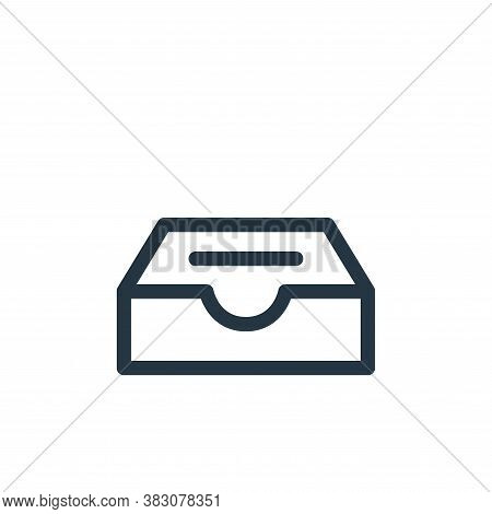 inbox icon isolated on white background from miscellaneous collection. inbox icon trendy and modern