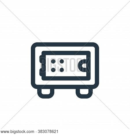 deposit box icon isolated on white background from fintech collection. deposit box icon trendy and m