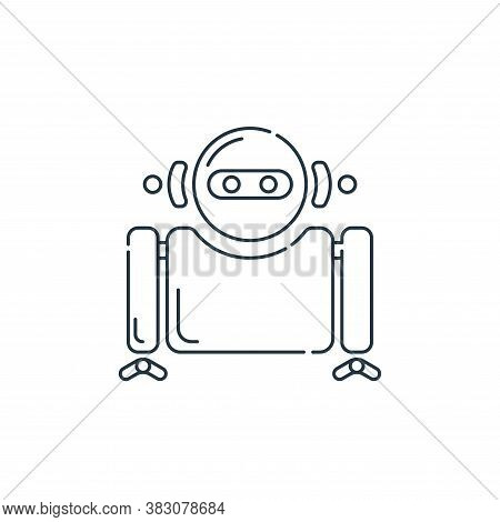 robot icon isolated on white background from hardware and technology collection. robot icon trendy a