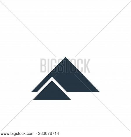 Terrain icon isolated on white background from maps and navigation collection. Terrain icon trendy a