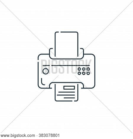 printer icon isolated on white background from hardware and technology collection. printer icon tren