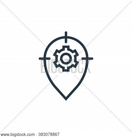 tracking icon isolated on white background from business marketing collection. tracking icon trendy