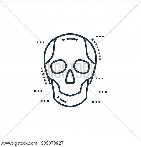 skull icon isolated on white background from cells organs and medical cannabis collection. skull ico