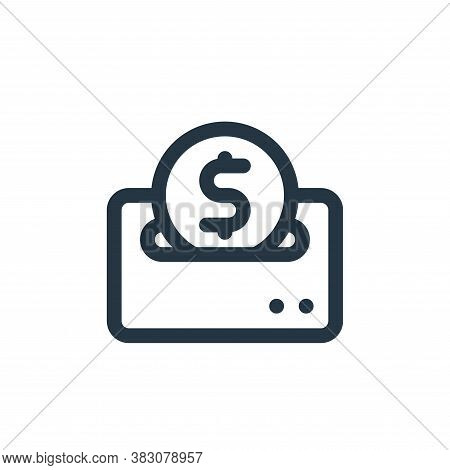 donation icon isolated on white background from fintech collection. donation icon trendy and modern