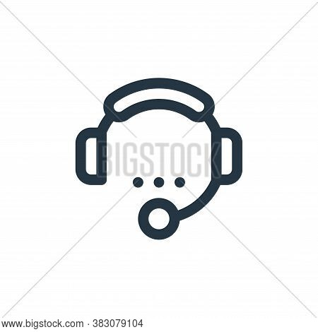 customer service icon isolated on white background from fintech collection. customer service icon tr