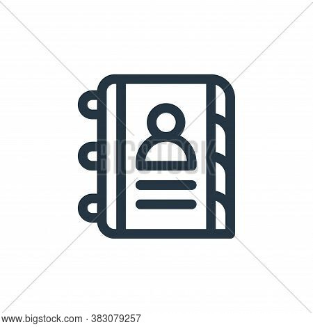 contact book icon isolated on white background from business administration collection. contact book